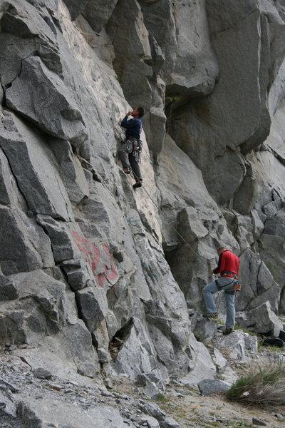 Rock Climbing Photo: Melon and Johnson on Fetal Rearrangement.