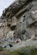 Rock Climbing Photo: Nathan on Mantel Marathon with Albert belaying.