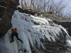 Rock Climbing Photo: Marty Molitoris on Little Black Dike, Stony Clove ...