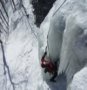 Rock Climbing Photo: Brian Fry following P1 of That Climb; Stony Clove,...
