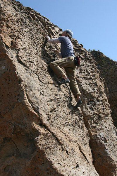 Rock Climbing Photo: Midway up Zygote, V0