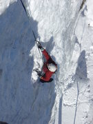 Rock Climbing Photo: Brian Fry on P2 of That Climb; Stony Clove, Catski...