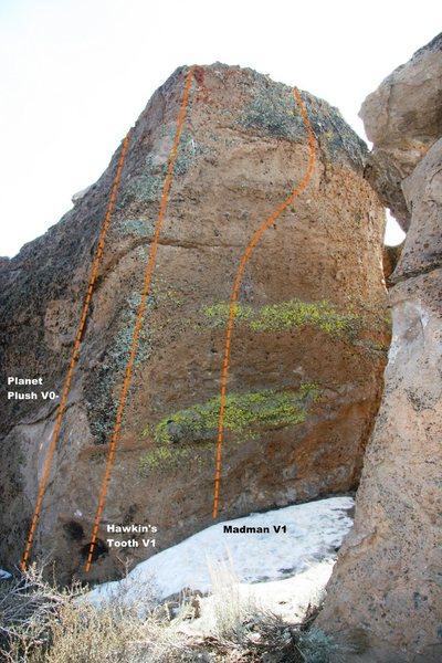 Crippler Boulder North Face Topo