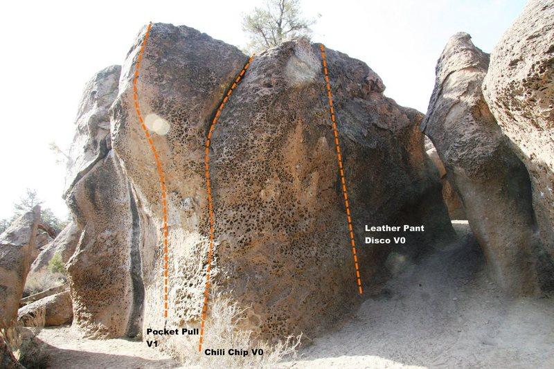 Hawkins Boulder East Face Topo