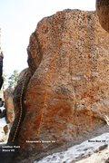 Rock Climbing Photo: Hawkins Boulder North Face Left Topo