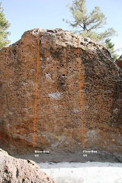 Hawkins Boulder North Face Left Center Topo