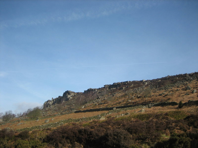 Rock Climbing Photo: Curbar from car park