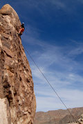 Rock Climbing Photo: Max nears the top of Silent Scream, on Pixie Rock ...