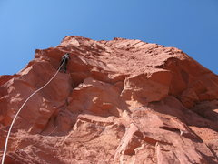 Rock Climbing Photo: working my way out the roof, I found it easier fro...