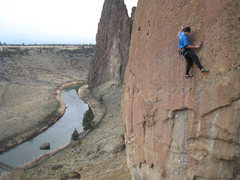 Rock Climbing Photo: Climbing Spartacus with the Crooked River & Shipro...