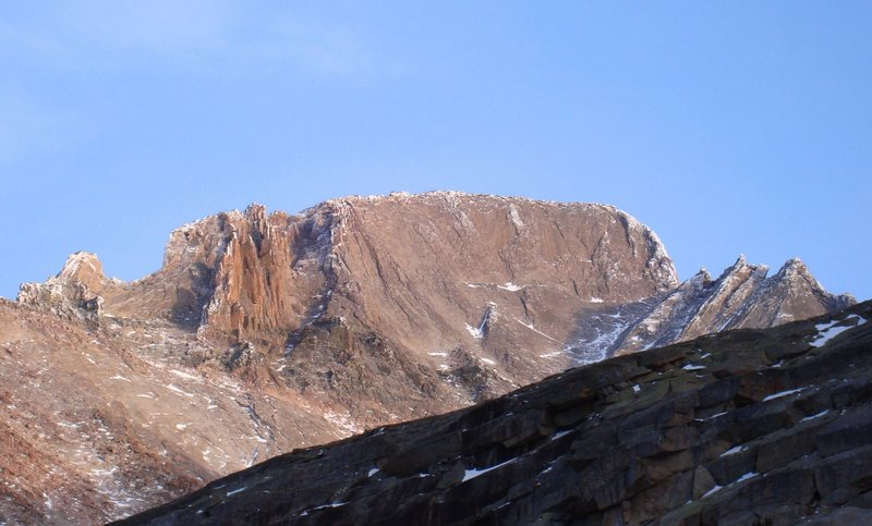 Rock Climbing Photo: Longs Peak, west face, 11/16/08