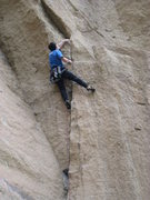 Rock Climbing Photo: Onsighting Unfinsihed Symphony, in the midst of th...