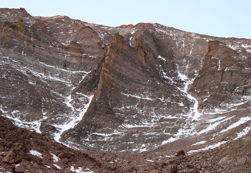 The ever impressive N. Face of Mt. Meeker. 10/2008