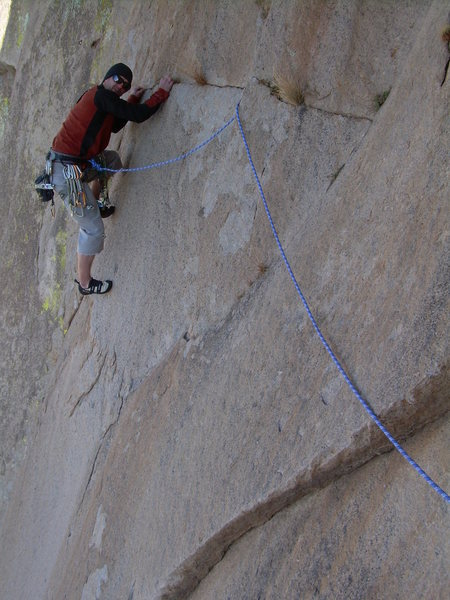 Rock Climbing Photo: Wyatt Payne following pitch 1