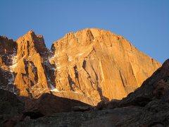 Rock Climbing Photo: The Diamond.  Early morning, 10/2008