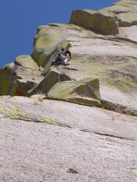Rock Climbing Photo: Wyatt sending the pitch 4 mantle!