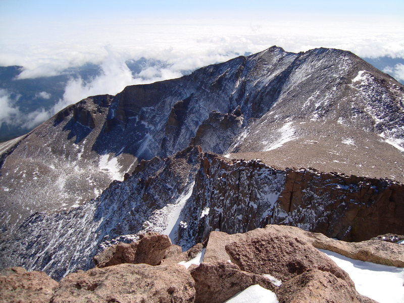 Rock Climbing Photo: Mt. Meekers NF from the summit of Longs Peak.  9/2...
