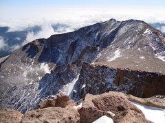 Rock Climbing Photo: Mt. Meekers NF from the summit of Longs Peak.  9/2...