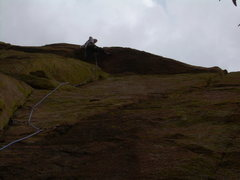 Rock Climbing Photo: Stu Ritchie on pitch 1 roof