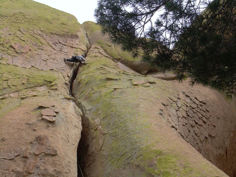 Rock Climbing Photo: Getting close to the 1st belay