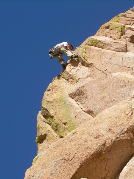 Rock Climbing Photo: Wyatt Payne sends the super exposed final pitch!