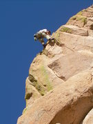 Rock Climbing Photo: Wyatt Payne sends the super exposed final pitch!