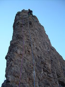 Rock Climbing Photo: Jeff Mayhew stops for a pic while leading the seco...