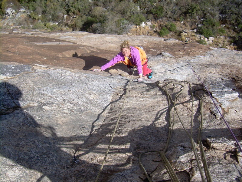 Rock Climbing Photo: Kimberly follows pitch 3