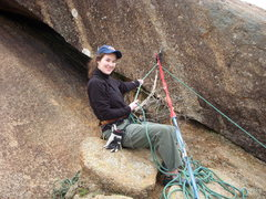 Rock Climbing Photo: Amanda the Rock Star belaying the first pitch of G...