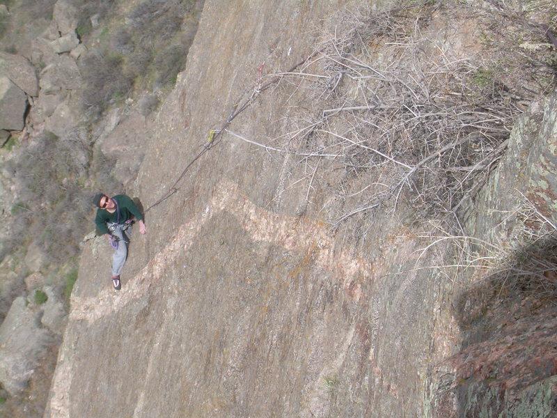 Rock Climbing Photo: Wyatt follows the 3rd pitch