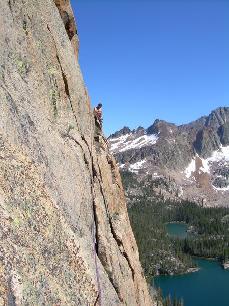 Rock Climbing Photo: Looking across the traverse to the Beckey