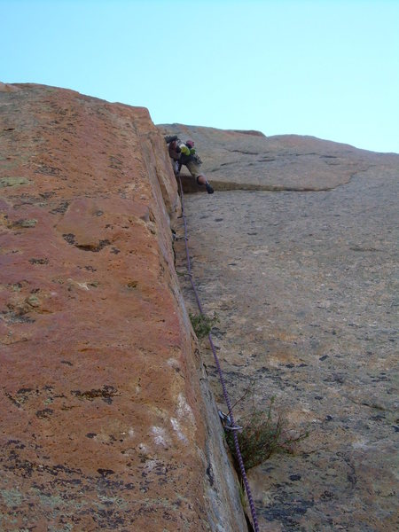 Rock Climbing Photo: One of the many cool dihedral pitches!