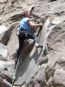 Rock Climbing Photo: Stu Ritchie at the crux