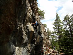 Rock Climbing Photo: Very cool route, not sure of the name