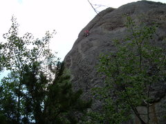Rock Climbing Photo: Moving up to the crack
