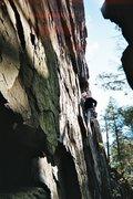 Rock Climbing Photo: Doug starting up Carey Corner