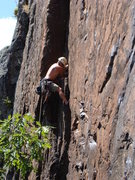 Rock Climbing Photo: Doug demonstrating textbook jamming on Cat Crack