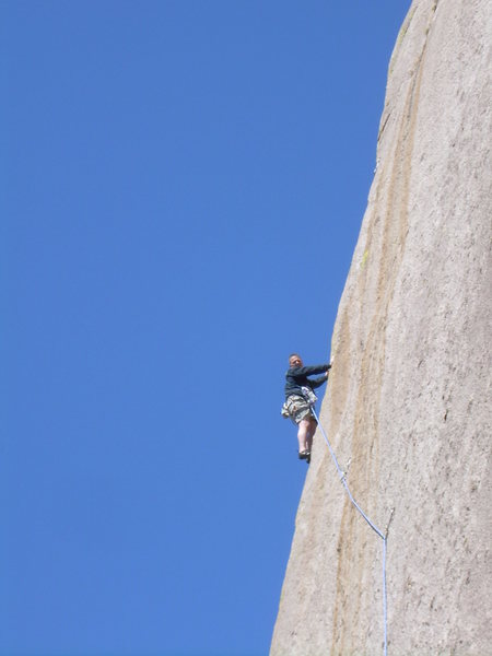 Rock Climbing Photo: Now just to the belay!