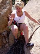 Rock Climbing Photo: Knees are a no-no!