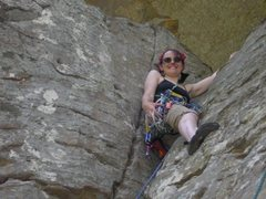 Rock Climbing Photo: First trad climb. Kate's 1st Trad Lead (5.1), Prac...