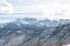 Rock Climbing Photo: San Juan Mountains on the way into Ouray, CO. Phot...