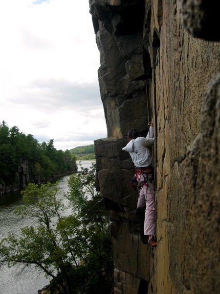 Rock Climbing Photo: Climbing in Taylors Falls, MN