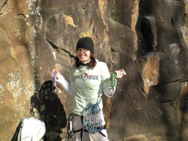 Rock Climbing Photo: Representin'. (Horseshoe Canyon Ranch, January 200...