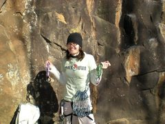Rock Climbing Photo: Representin'. (Horseshoe Canyon Ranch, January 200...
