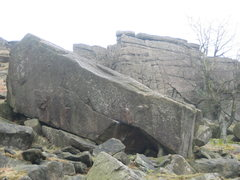 Rock Climbing Photo: Joker Block, which holds two of Stanage's hardest ...