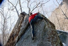 Rock Climbing Photo: seth on the onsight...