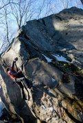 Rock Climbing Photo: Seth on Child Prodigy. Photo by Caroline Raymond