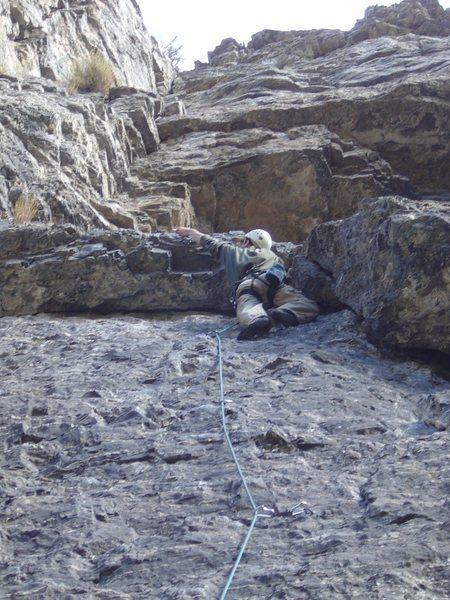 Matt climbing in A.F.