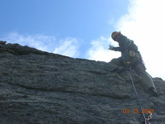 Rock Climbing Photo: Leading the Second Pitch