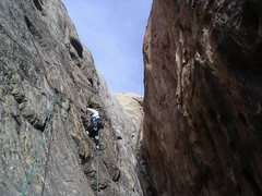 Rock Climbing Photo: Starting the left wall rising traverse Pitch 2 pho...